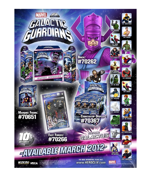"Фигурка ""Heroclix Marvel"" Galactic Guardians Primer Display (Neca)"