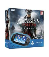 Комплект Sony Playstation PS Vita Wi-Fi Black Rus [PCH-1008ZA01] + 4GB memory card + PSN код активации Assassin's Creed III Liberation (PS Vita)