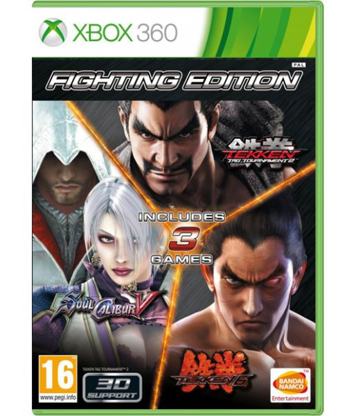 Fighting Edition (Tekken 6+Soul Calibur 5+Tekken Tag Tournament 2) [русские субтитры] (Xbox 360)