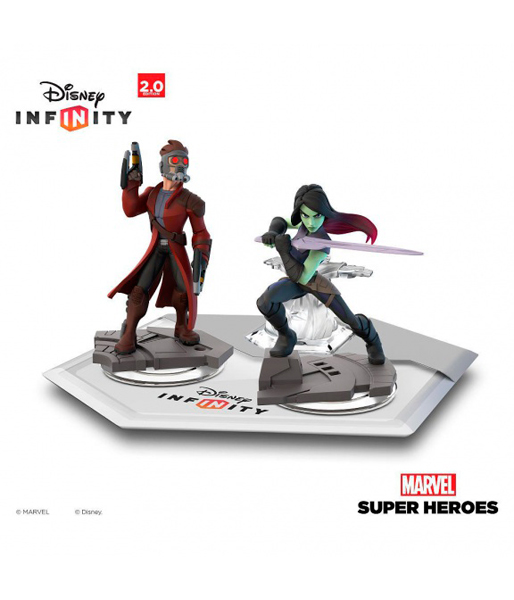 "Disney Infinity 2.0 (Marvel) Набор 2+1: Cтражи Галактики (Звёздный лорд, Гамора, Локация ""Стражи Галактики"")"