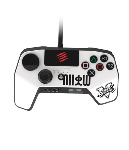 Аркадный пад Mad Catz Street Fighter V FightPad Pro - Ryu белый (SFV89250BSA1/04/1)