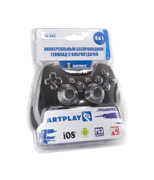 Беспроводной геймпад Artplays Bluetooth/радио 2,4GHz PC, PS3, Android, iCade (AN-201)