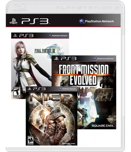 Final Fantasy XIII + Nier + Front Mission Evolved (PS3)
