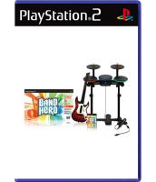 Band Hero Band Kit [Игра + Гитара + Барабаны + Микрофон] (PS2)