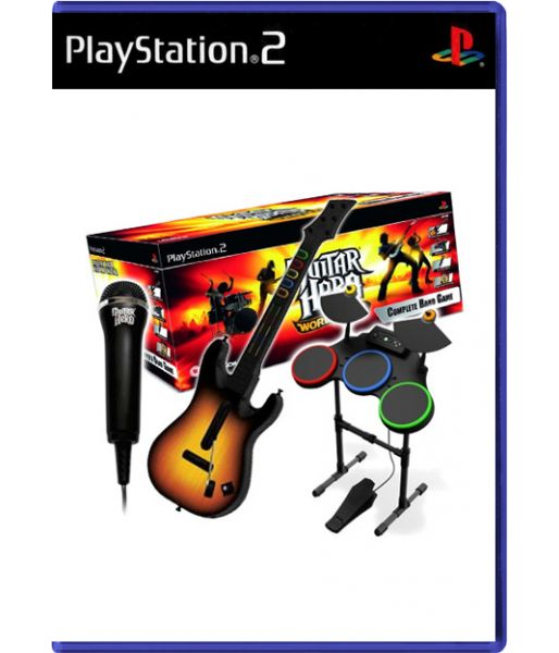 Guitar Hero: World Tour - Complete Band Pack [Игровой комплект] (PS2)