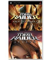 Комплект для 2х игр: Tomb Raider: Anniversary  + Tomb Raider: Legend (PSP)