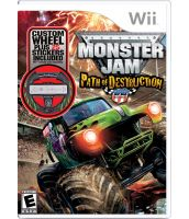 Monster Jam: Path of Destruction [игра + руль] (Wii)