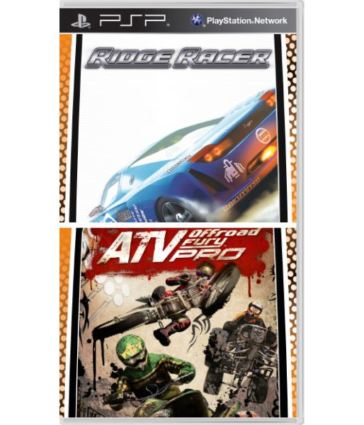 Комплект Ridge Racer+ATV Off Road Fury Pro [Essentials, русская документация] (PSP)