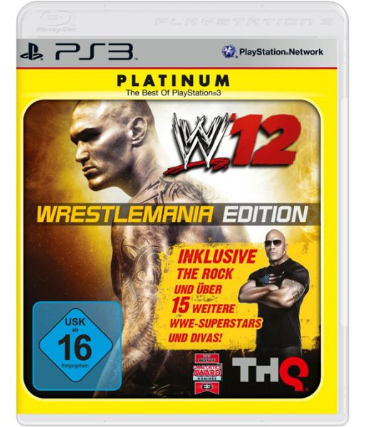WWE'12 Wrestlemania Edition [Platinum, русская документация] (PS3)