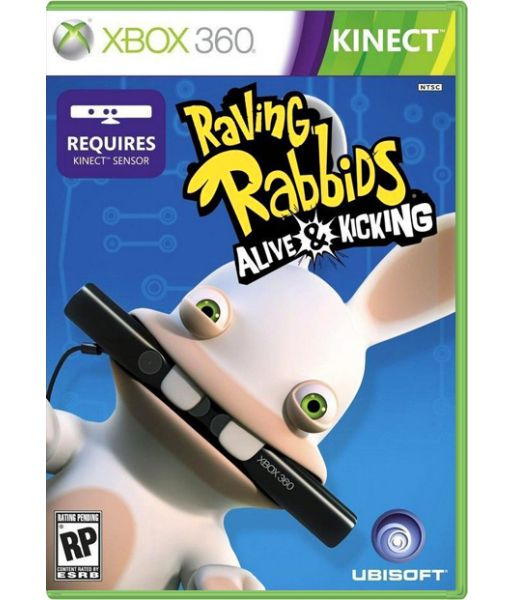 Raving Rabbids Alive & Kicking [для Kinect, русская обложка] (Xbox 360)