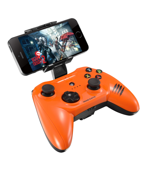 Геймпад Mad Catz C.T.R.L.i Mobile Gamepad - Gloss Orange для iPhone и iPad (MCB312630A10/04/1) (iPhone/iPad)