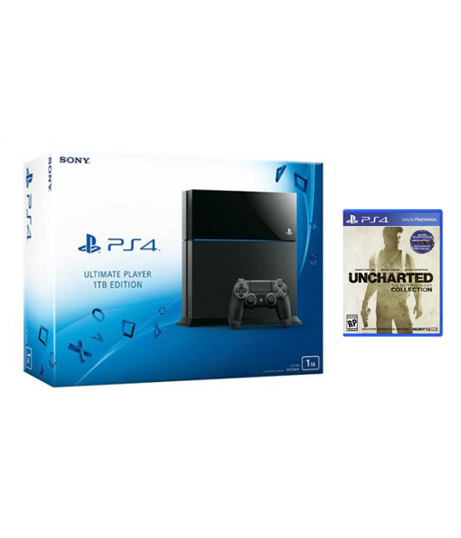 PlayStation 4 1TB матовая черная + Uncharted (PS4)