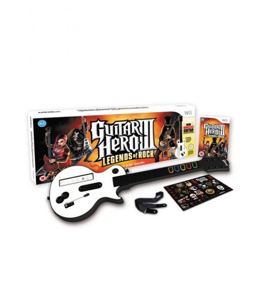 Guitar Hero III: Legends of Rock Bundle [Игра + Гитара] (Wii)
