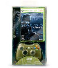 Комплект Xbox 360: Геймпад беспроводной темнозеленый + Halo3 ODST (Xbox 360)