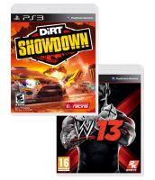 Комплект 2 в 1: DiRT Showdown + WWE 2013 (PS3)