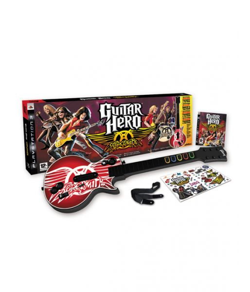 Guitar Hero: Aerosmith Bundle [Игра + гитара] (PS3)