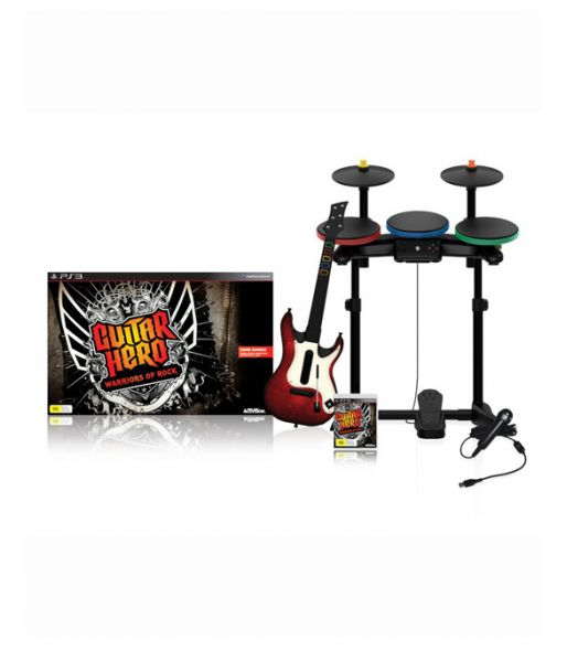 Guitar Hero: Warriors of Rock - Band Bundle [Игровой комплект] (PS3)