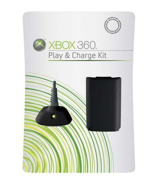 Play/Charge Kit Xbox 360 EN/FR/DE/IT/ES Euro Hdwr Black (Xbox 360)
