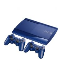 Комплект Sony PS3 Super Slim Blue [500Gb CECH-4008CLBl]+Dualshock 3 синий