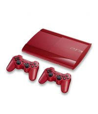 Комплект Sony PS3 Super Slim Red [500Gb CECH-4008CLW]+Dualshock 3 красный